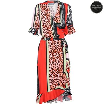 Summum Summer Dress Patchwork print