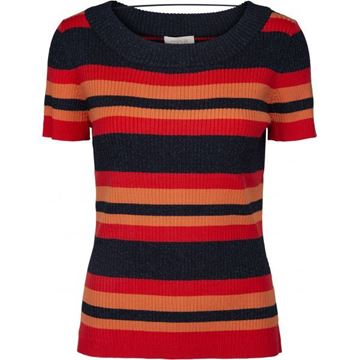 Minus Bluse Vola Flamingo Red Striped