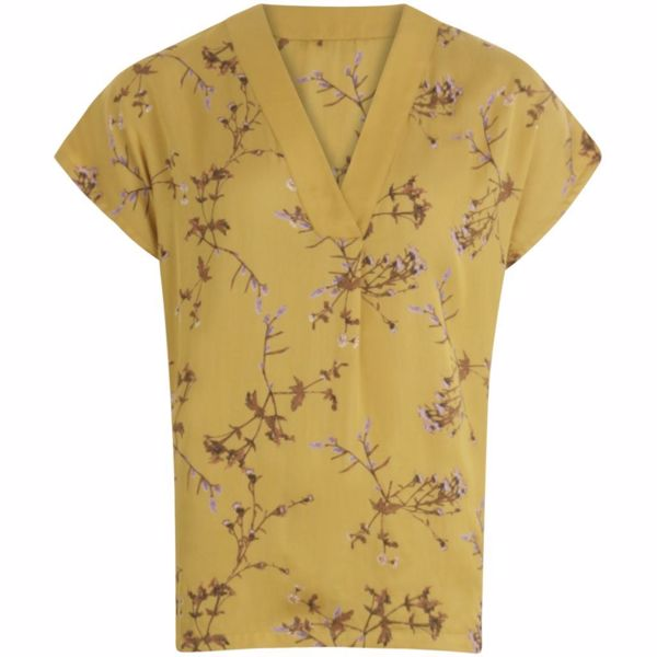 Coster Bluse In Valley Print W. V-Neck