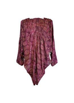 Black Colour Kimono Luna Sangria Pink