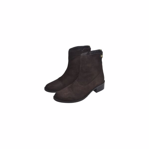 Copenhagen Shoes Støvle She Suede Dark Brown
