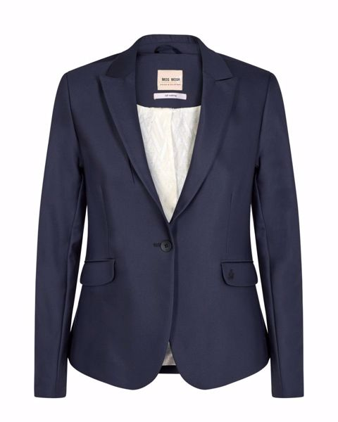 Mos Mosh Blazer Blake Night Sustainable Navy