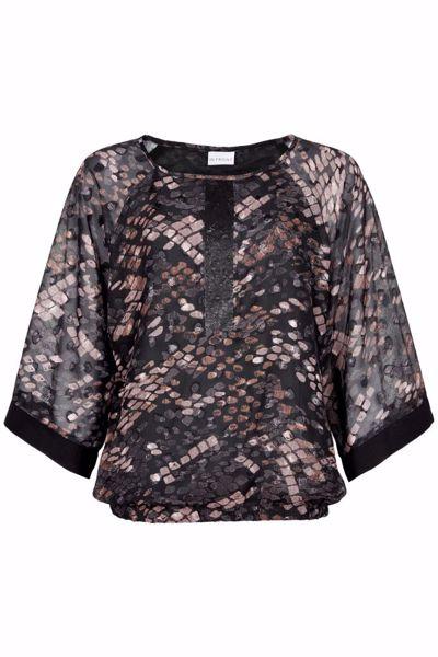 Infront Bluse Trudi Black 3/4 Sleeves