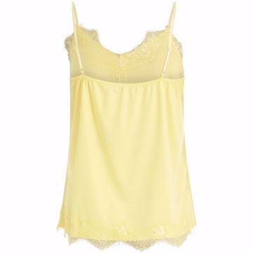 Coster Copenhagen Strap Top W. Lace Lemon