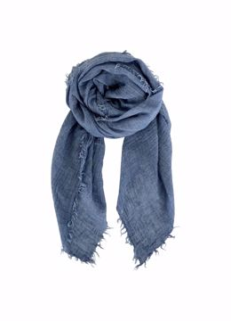 Black Colour Tørklæde Eucalyptu Basisscarf Denim