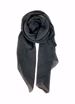 Black Colour Tørklæde Emma Plain Scarf Black