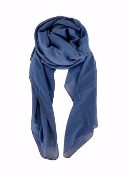Black Colour Tørklæde Emma Plain Scarf Blue
