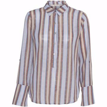 Costa Mani Bluse Lexis Brown / Blue Stripe