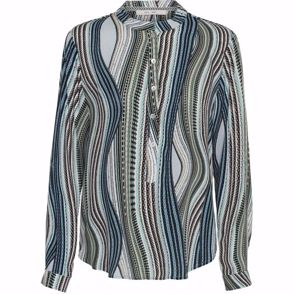 Costa Mani Bluse Lexis Mix mint Stripe