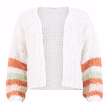 Infront Cardigan Fie Knit Off White
