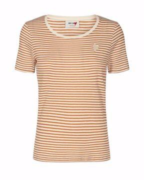 Mos Mosh T-shirt Kenia Glam Stripe Bran