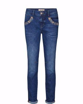 Mos Mosh Jeans Naomi Paisley Dark Blue