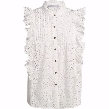 Summum Top Ruffle Chiffy White
