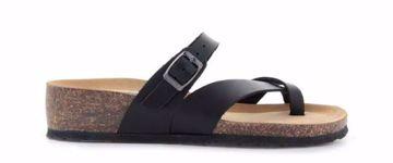Bionatura Sandal Pelle Gaucho Nero