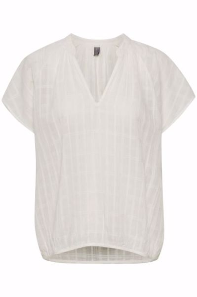 Culture Bluse Cualbertine Capsleeves Off White