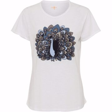 Costa mani T-Shirt Peacock White