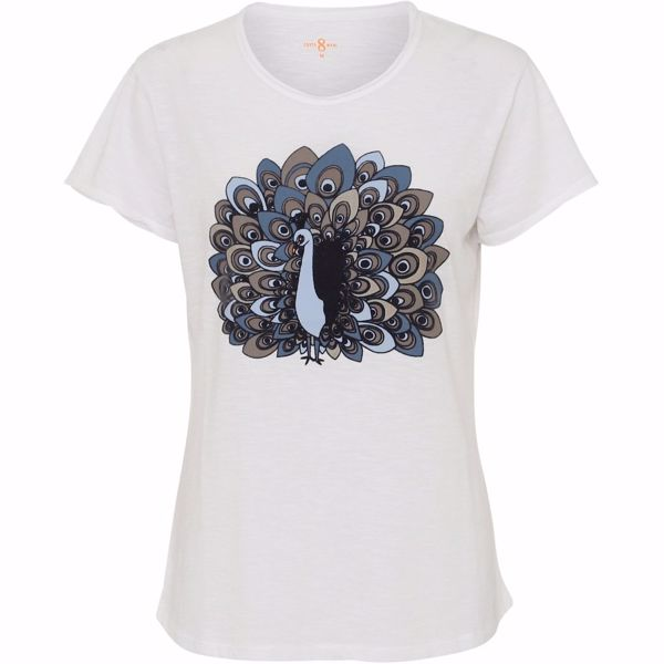 Costa mani T-Shirt Peacock White