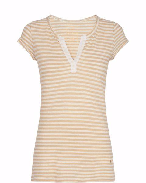 Mos Mosh T-Shirt Troy Stripe Safari