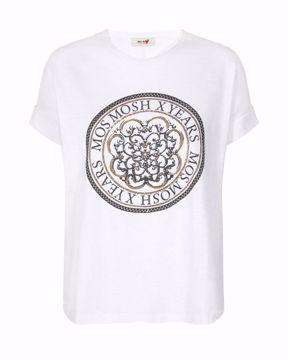 Mos Mosh T-shirt Yara Anniversary White W. Gold
