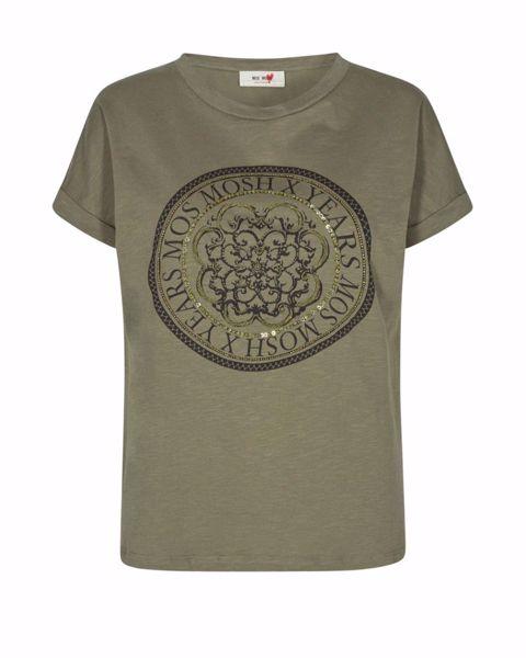 Mos Mosh T-shirt Yara Anniversary Army W. Gold