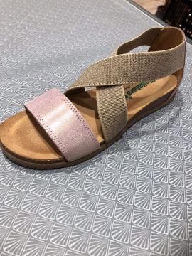 Bionatura Sandal Nabuk Glitter