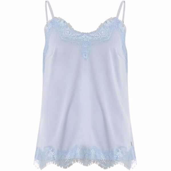Coster Copenhagen Top W. Lace Powder Blue