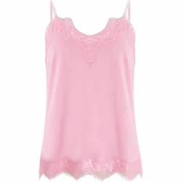 Coster Copenhagen Top W. Lace Bubble Gum