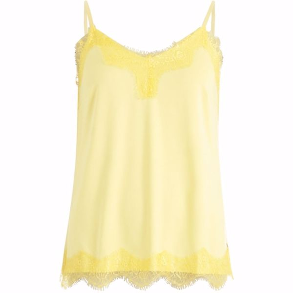 Coster Copenhagen Top W. Lace Sunshine Yellow