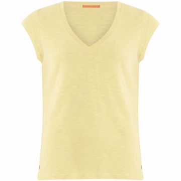 Coster Copenhagen Tee V-Neck Corn Cream