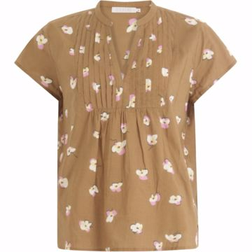 Coster Copenhagen Bluse W. Pleats Brown