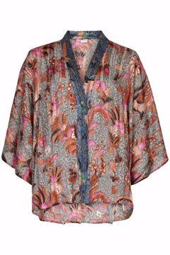 Infront Kimono Lily Rose Wood