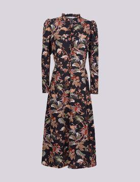 Summum Kjole Flower Print Black