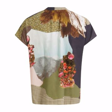 Coster Copenhagen Bluse Mountain Collage Print