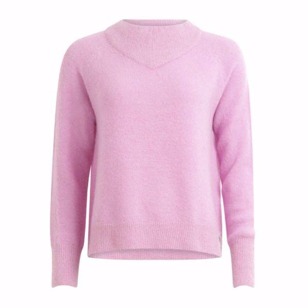 Coster Copenhagen Sweater W. High Neck Bubble Gum