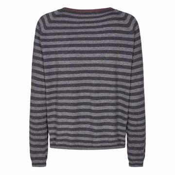 Mos Mosh Strik Wyn Stripe Knit Dark Grey