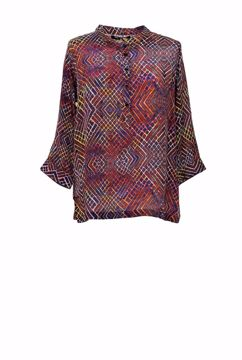 Peace Heart Joy Bluse Sophie Burnt Grid