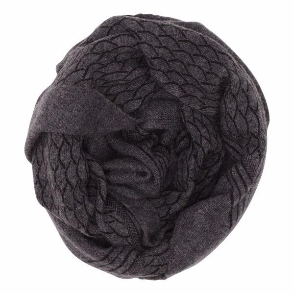 Gauge & Ply Tørklæde Gaia Black Melange
