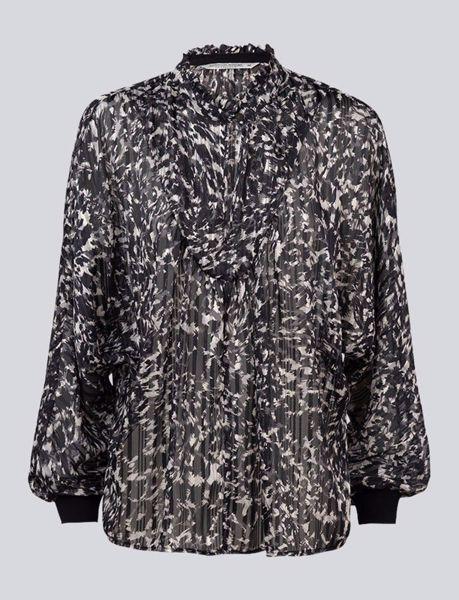 Summum bluse Wide Camoflage Lurex Black