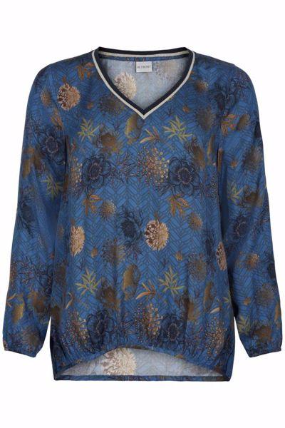 Infront Bluse Flora V-Neck Blue