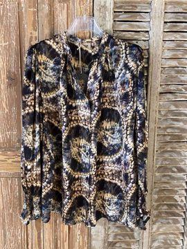 Banditas Bluse Leda Blue Batik