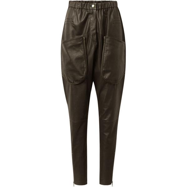 Depeche Skind Bukser Med Lommer Dusty Taupe