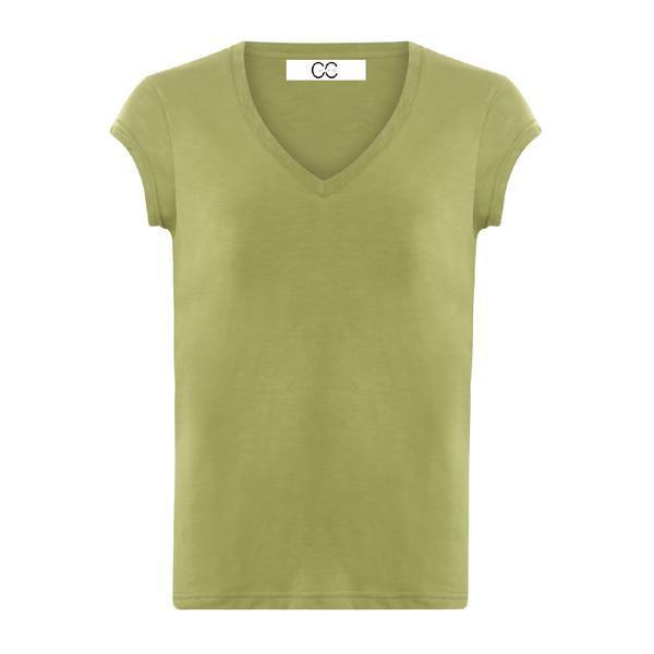 CC Heart Basis V-neck T-shirt Forest Green