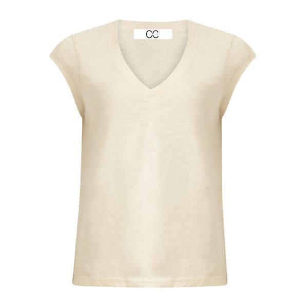 CC Heart Basis V-Neck T-shirt Almond Milk