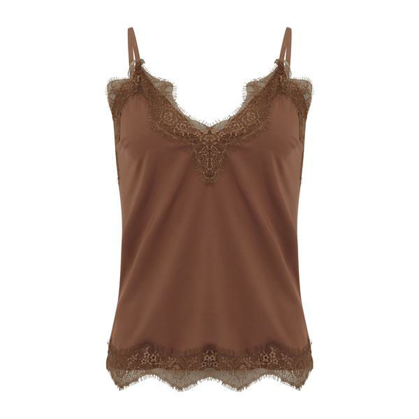 CC Heart Top Lace Coffee