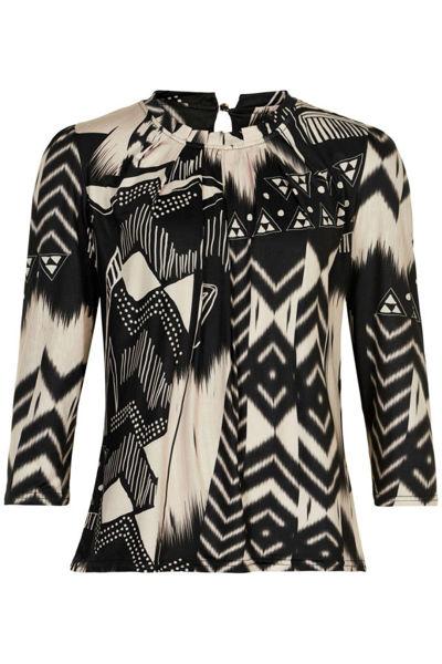 Infront Bluse Grazia 3/4 Sleeves Black