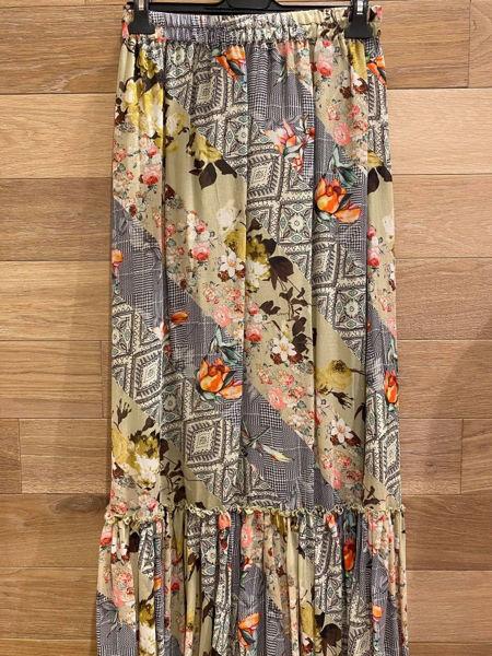 summum ruffle skirt festival print
