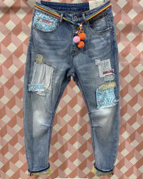 Cabana Living Jeans Dy Blue Patch