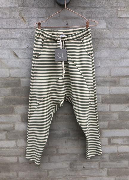 Cabana Living Bukser Baggy Pant Stribe Grey