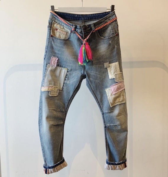 Cabana Living Jeans Dy Rose Patch
