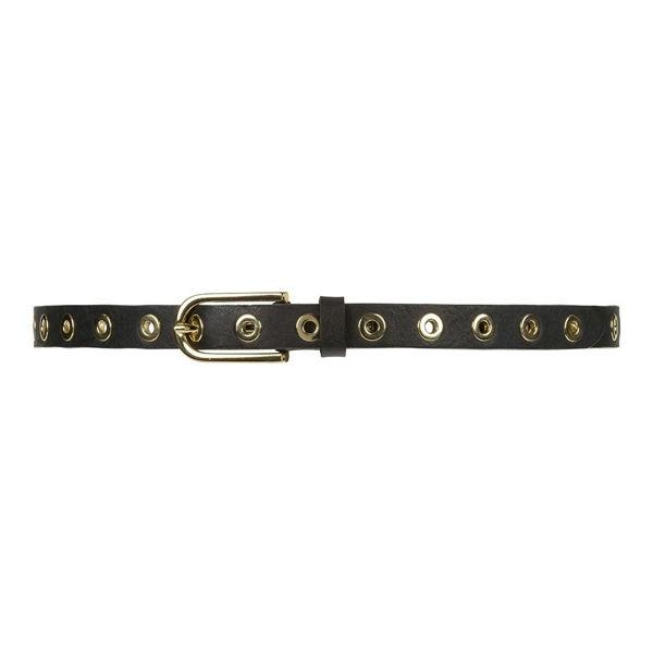 Depeche Narrow Belt Studs Black Patino